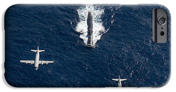 Navy iPhone Cases - Two P-3 Orion Maritime Surveillance iPhone Case by Stocktrek Images