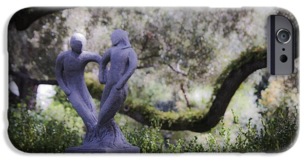 Garden Statuary iPhone Cases - Two to Tango iPhone Case by Teresa Mucha