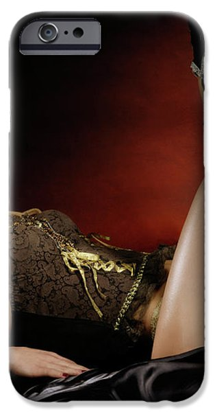 Two Women on a Bed iPhone Case by Oleksiy Maksymenko