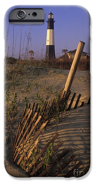 Tybee Island iPhone Cases - Tybee Island Lighthouse - FS000812 iPhone Case by Daniel Dempster
