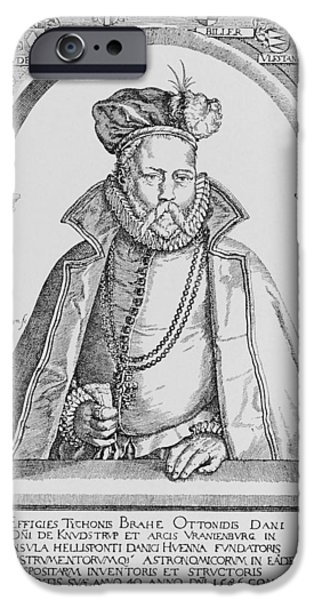 Observer iPhone Cases - Tycho Brahe iPhone Case by Science, Industry & Business Librarynew York Public Library