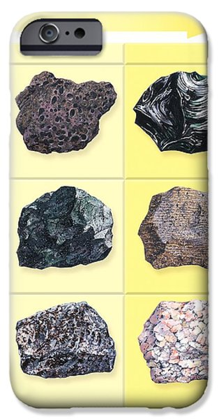 Types Of Volcanic Rock iPhone Case by Gary Hincks