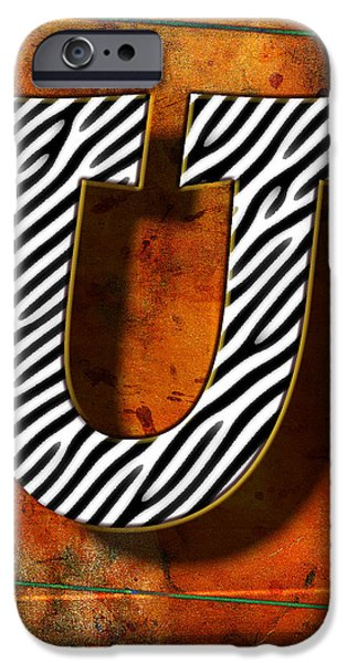 D.c. Pyrography iPhone Cases - U iPhone Case by Mauro Celotti