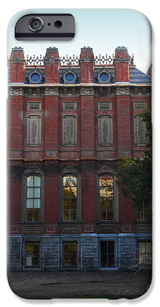 UC Berkeley . South Hall . Oldest Building At UC Berkeley . Built 1873 . 7D10053 iPhone Case by Wingsdomain Art and Photography