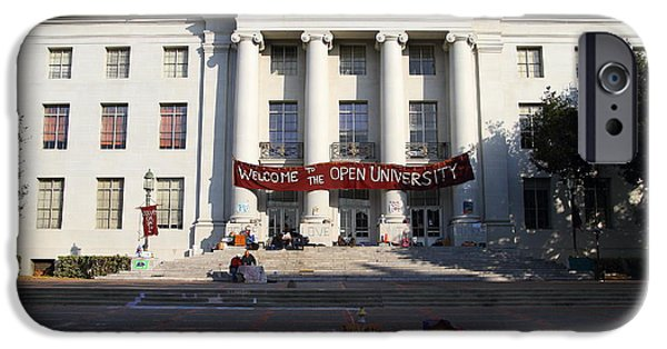 Occupy iPhone Cases - UC Berkeley . Sproul Hall . Sproul Plaza . Occupy UC Berkeley . 7D10017 iPhone Case by Wingsdomain Art and Photography