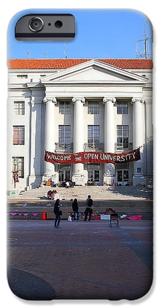 UC Berkeley . Sproul Hall . Sproul Plaza . Occupy UC Berkeley . 7D9994 iPhone Case by Wingsdomain Art and Photography