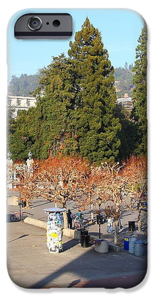 UC Berkeley . Sproul Hall . Sproul Plaza . Sather Gate and Sather Tower Campanile . 7D10016 iPhone Case by Wingsdomain Art and Photography