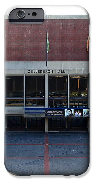 UC Berkeley . Zellerbach Hall . 7D10012 iPhone Case by Wingsdomain Art and Photography