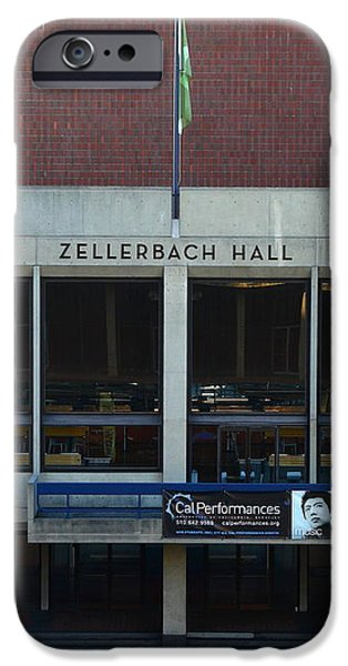 UC Berkeley . Zellerbach Hall . 7D10013 iPhone Case by Wingsdomain Art and Photography
