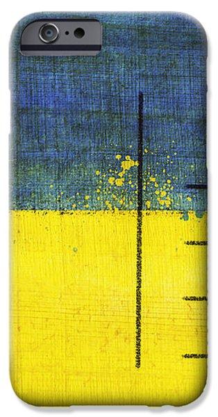 Ukraine flag postcard iPhone Case by Setsiri Silapasuwanchai