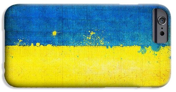 Sheets iPhone Cases - Ukraine flag iPhone Case by Setsiri Silapasuwanchai