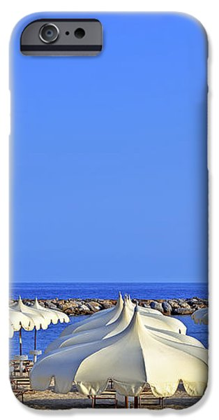 Umbrellas in the sun iPhone Case by Joana Kruse