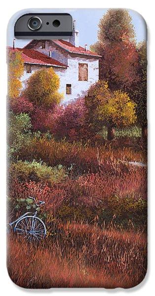 una bicicletta nel bosco iPhone Case by Guido Borelli