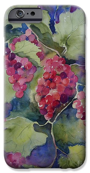 Grapevine Red Leaf iPhone Cases - Under the Arbor iPhone Case by Sandra Strohschein