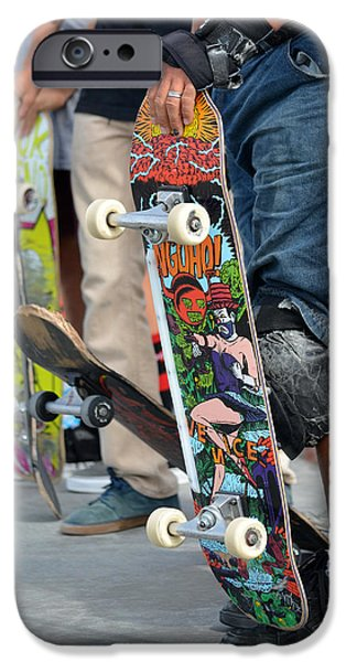 Skateboards iPhone Cases - Under The Board iPhone Case by Fraida Gutovich