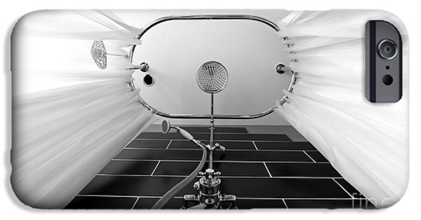 Shower Head iPhone Cases - Underneath an old style shower iPhone Case by Simon Bratt Photography LRPS