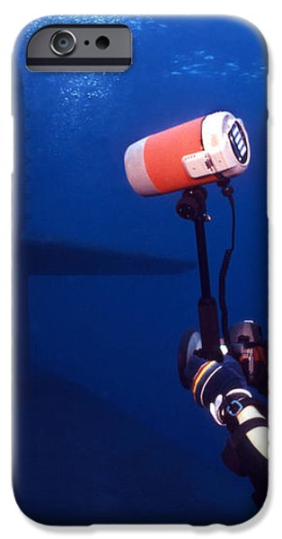 Underwater Photographer Takes Photos iPhone Case by Michael Wood