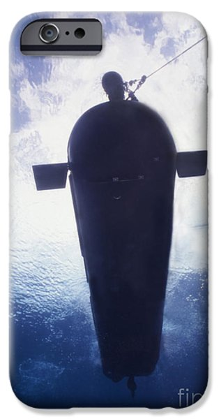 Underwater View Of A Mk-8 Mod-0 Seal iPhone Case by Michael Wood