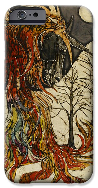 Unicorn and Phoenix iPhone Case by Carol  Law Conklin