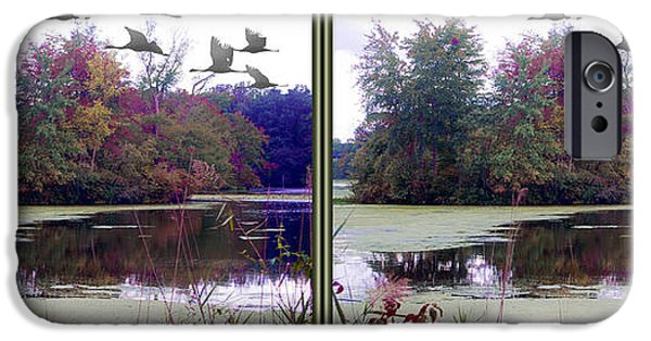 Alga iPhone Cases - Unicorn Lake - Cross your eyes and focus on the middle image iPhone Case by Brian Wallace