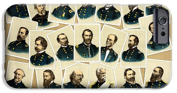 Warishellstore Paintings iPhone Cases - Union Commanders of The Civil War iPhone Case by War Is Hell Store