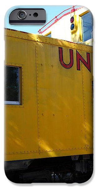 Union Pacific Caboose - 5D19205 iPhone Case by Wingsdomain Art and Photography
