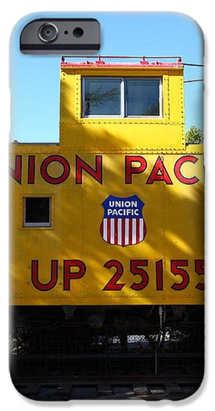 Union Pacific Caboose - 5D19206 iPhone Case by Wingsdomain Art and Photography