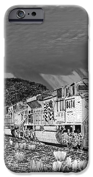 Union Pacific Diesels and Monsoon iPhone Case by Jack Pumphrey