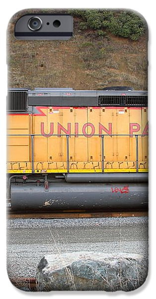 Union Pacific Locomotive . 7D10569 iPhone Case by Wingsdomain Art and Photography