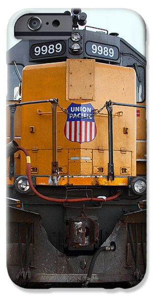 Union Pacific Locomotive Trains . 7D10589 iPhone Case by Wingsdomain Art and Photography