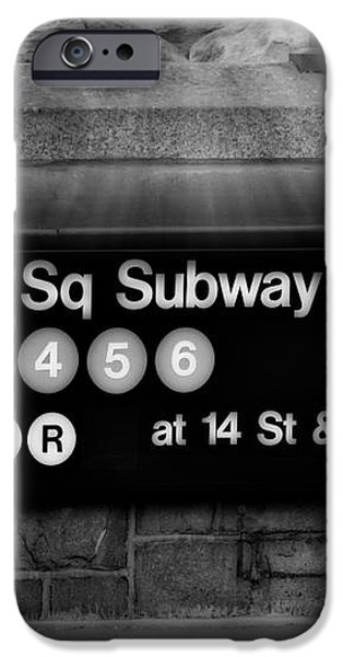 Union Square Subway Station BW iPhone Case by Susan Candelario
