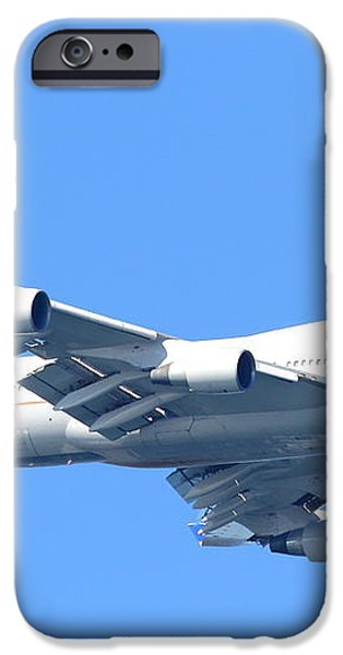United Airlines Boeing 747 . 7D7852 iPhone Case by Wingsdomain Art and Photography