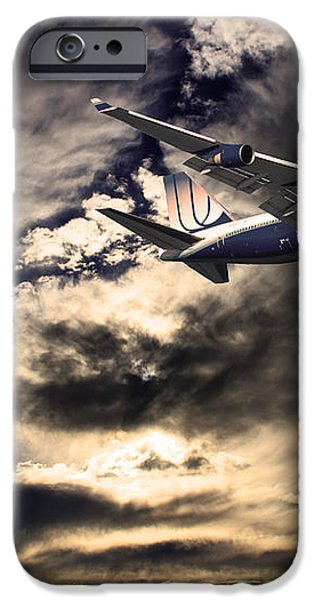 United Airlines . Flying The Friendly Skies iPhone Case by Wingsdomain Art and Photography