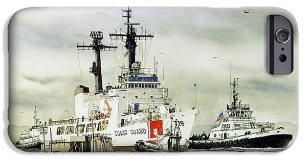 United iPhone Cases - United States Coast Guard BOUTWELL iPhone Case by James Williamson