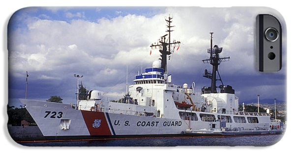 Law Enforcement iPhone Cases - United States Coast Guard Cutter Rush iPhone Case by Michael Wood