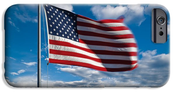Old Glory iPhone Cases - United States of America iPhone Case by Steve Gadomski