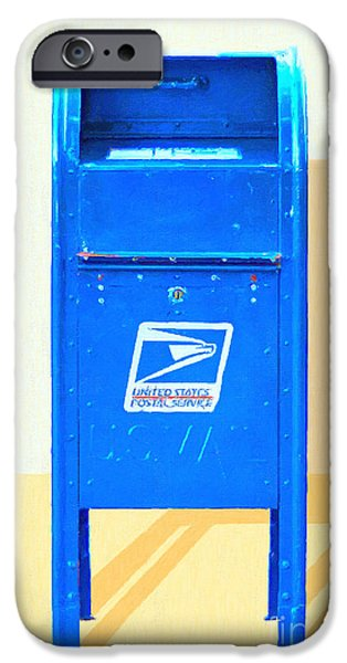 Us Postal Service iPhone Cases - United States Postal Service Mail Box . Snail Mail iPhone Case by Wingsdomain Art and Photography