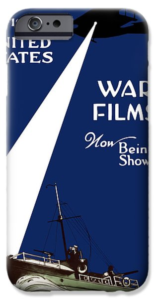 One iPhone Cases - United States War Films Now Being Shown iPhone Case by War Is Hell Store