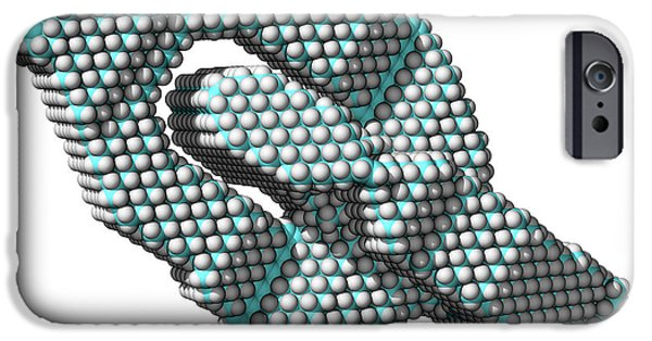 Molecular Graphic iPhone Cases - Universal Joint, Computer Model iPhone Case by Laguna Design