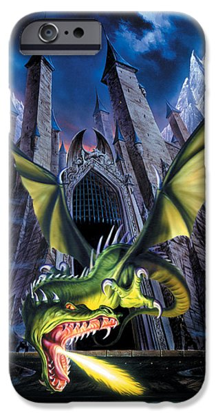 Dragon iPhone Cases - Unleashed iPhone Case by The Dragon Chronicles
