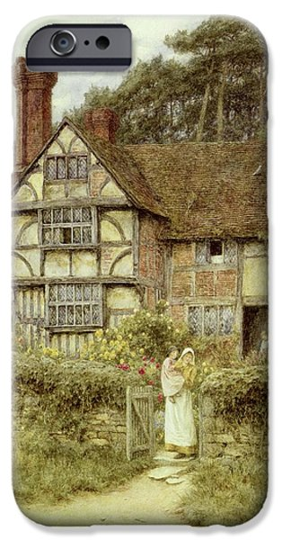 Country iPhone Cases - Unstead Farm Godalming iPhone Case by Helen Allingham