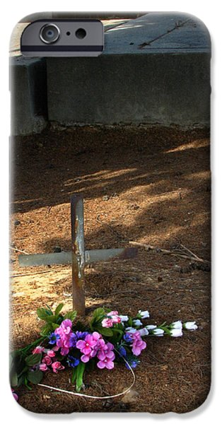 Headstones iPhone Cases - Untitled Grave iPhone Case by Peter Piatt