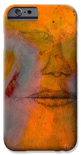 Dave Mixed Media iPhone Cases - Untitled Mixed Media No. 2 iPhone Case by David Gordon