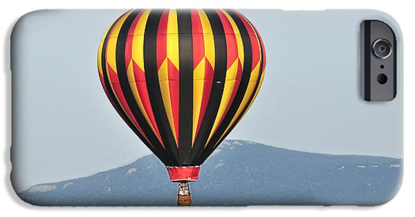 Hot Air Balloon iPhone Cases - Up Up And Away Blueridge 5 iPhone Case by Lara Ellis