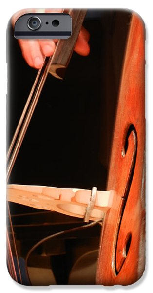 Upright Bass iPhone Cases - Upright Bass 1 iPhone Case by Anita Burgermeister