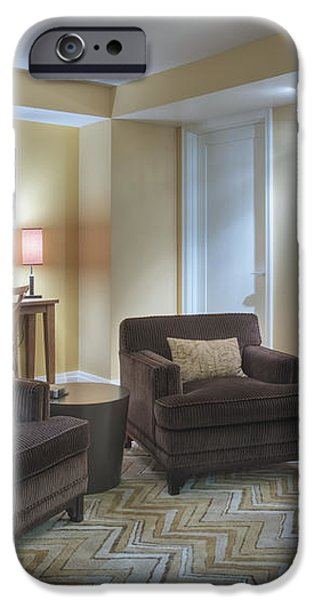 Upscale Living Room Interior iPhone Case by Andersen Ross