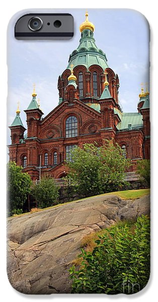 Cathedral Rock iPhone Cases - Upsenski Cathedral iPhone Case by Sophie Vigneault