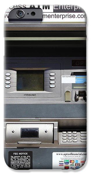 Urban Fabric . Automatic Teller Machine . 7D14178 iPhone Case by Wingsdomain Art and Photography