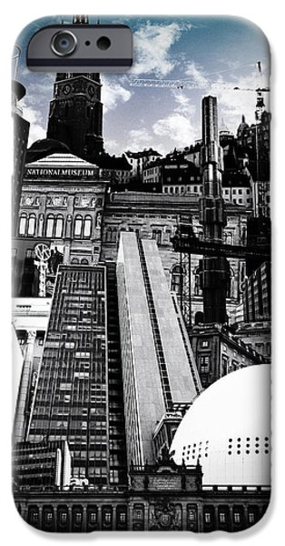 Architecture Digital Art iPhone Cases - Urban Stockholm iPhone Case by Nicklas Gustafsson