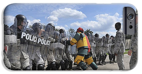 Law Enforcement iPhone Cases - U.s. Air Force 86th Security Forces iPhone Case by Stocktrek Images